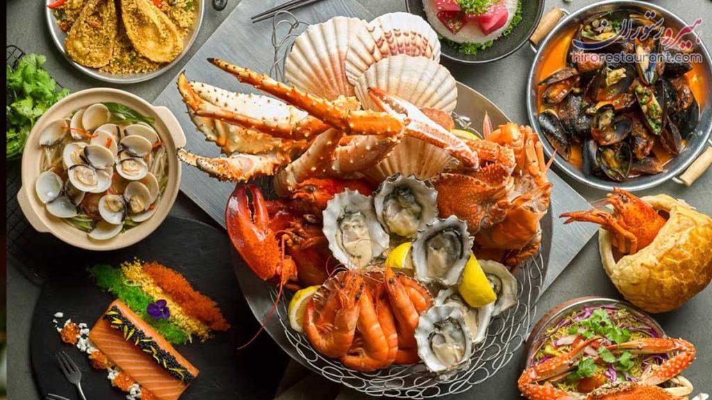 غذای دریایی در شیراز